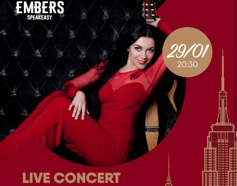Афиша! Музыкальный Live Concert Ирина Игнатюк 29 января в Embers Speakeasy