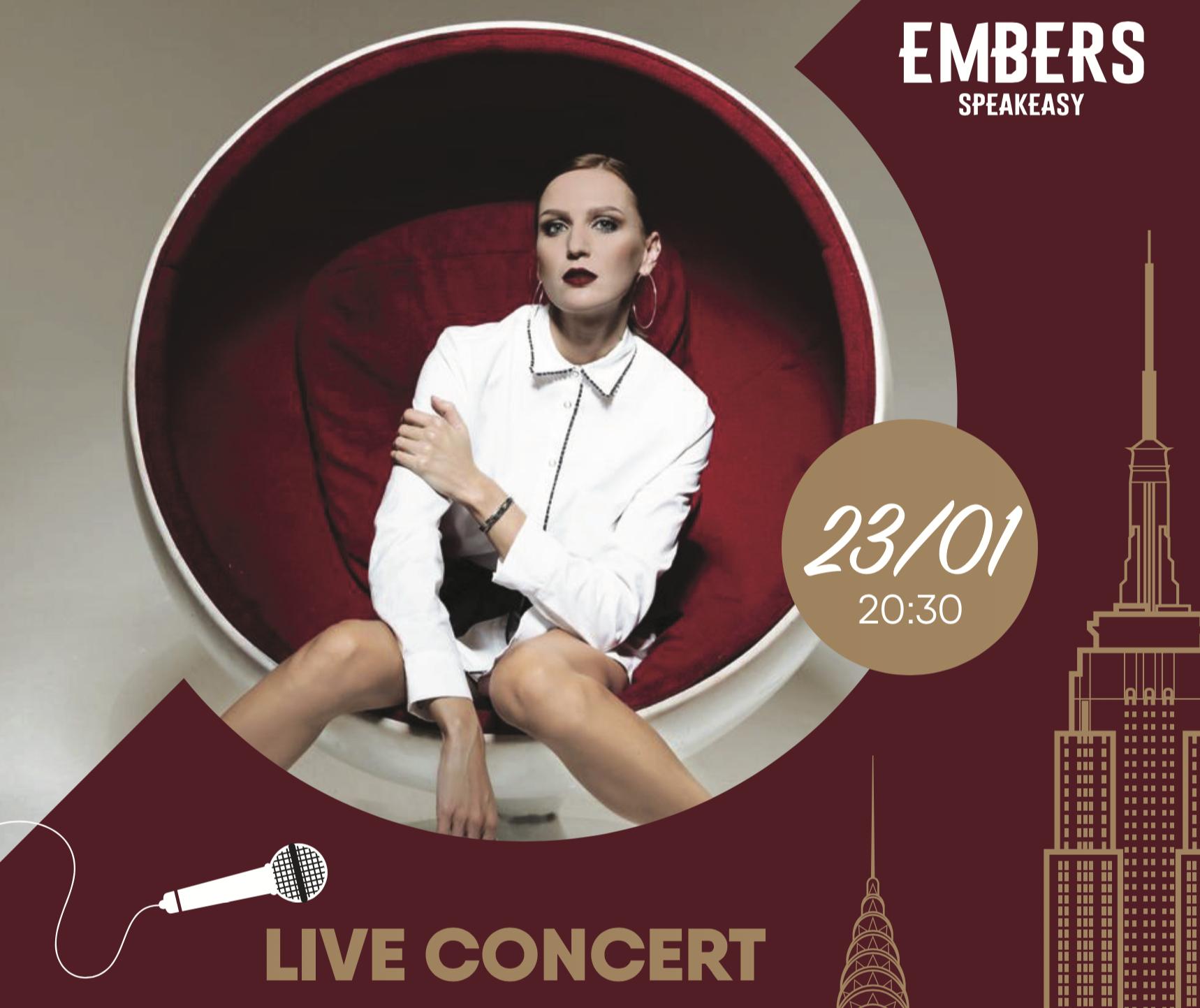 Афиша! Музыкальный исполнитель Соня Кумина 23 января в Embers Speakeasy