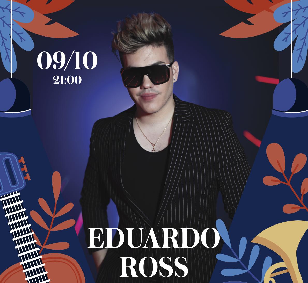 Афиша! 09 октября — Eduardo Ross в Embers Speakeasy.